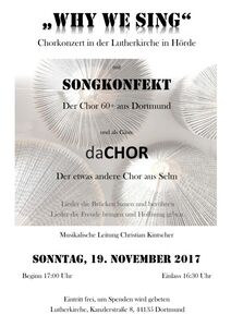 WHY WE SING _ Dortmund Hörde 19.11.2017